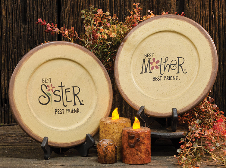 Mother/Sister Flower Plate-Assorted