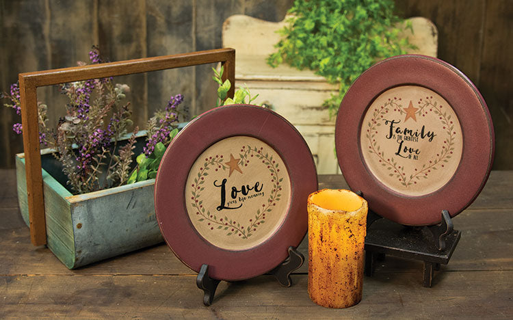 Love Gives Meaning Plate-2 Assorted