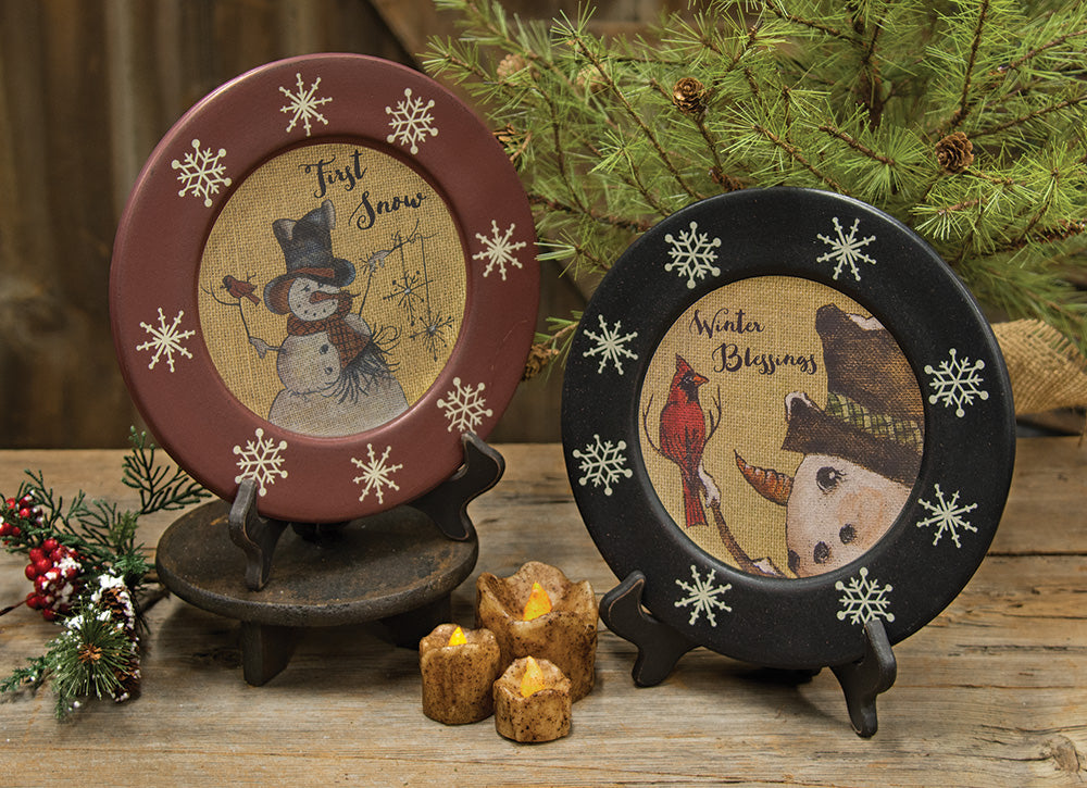 First Snow Plates-2 Assorted