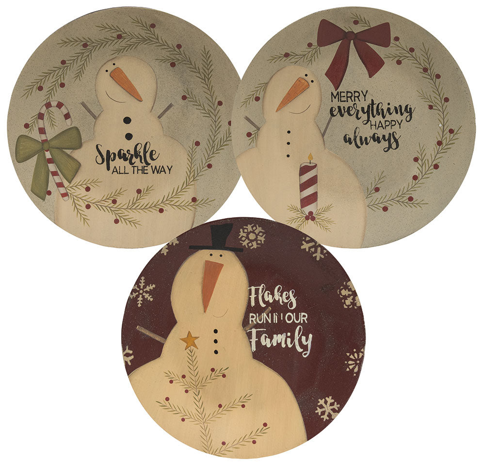 Sparkle All The Way Plate-3 Assorted