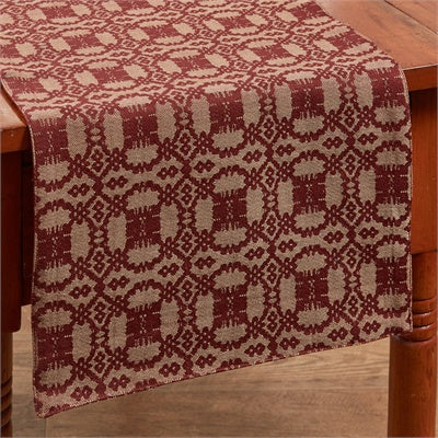 Campbell Coverlet Table Runner - Wine