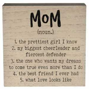Mom Definition Box Sign