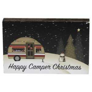 Happy Camper Christmas Block