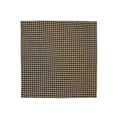Black Mini Check Napkin