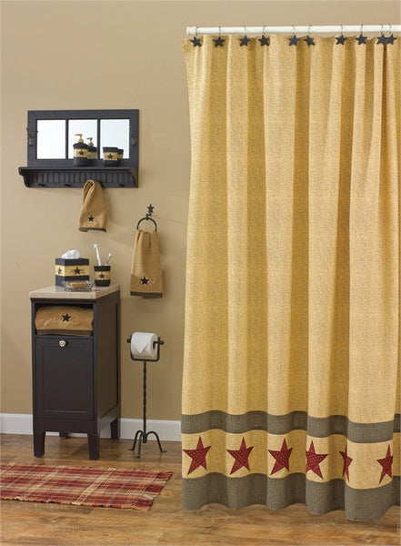 Country Star Shower Curtain