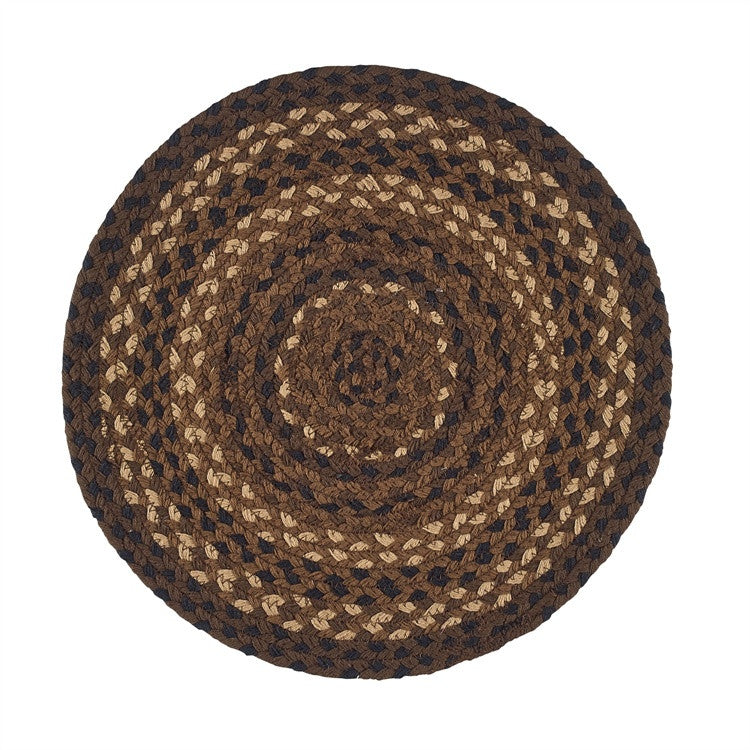 "Shades of Brown 15"" Braided Placemat"