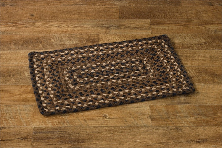 "Shades of Brown 20"" x 30"" Rectangle Braided Rug"