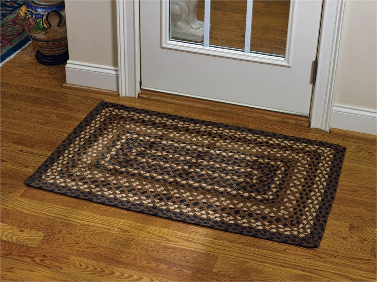 "Shades of Brown 27"" x 45"" Rectangle Braided Rug"