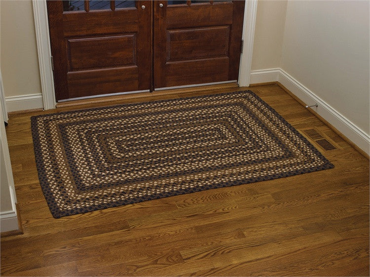 "Folk Art 48"" x 72"" Rectangle Braided Rug"