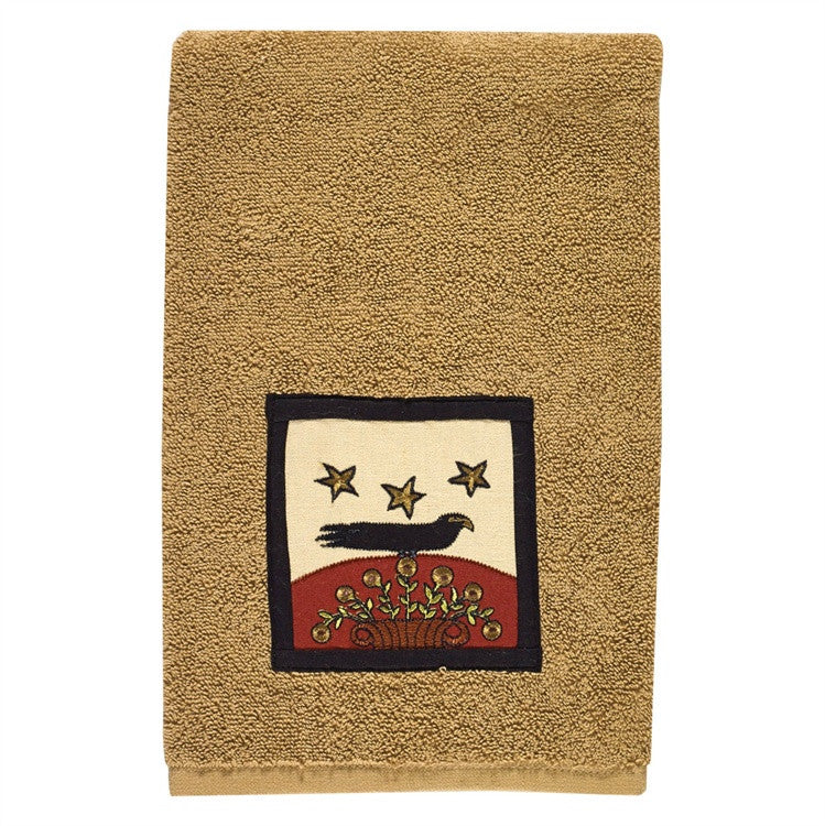 Folk Crow Terry Hand Towel