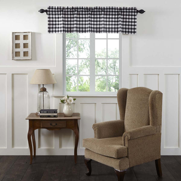 Annie Buffalo Black Check Lined Valance