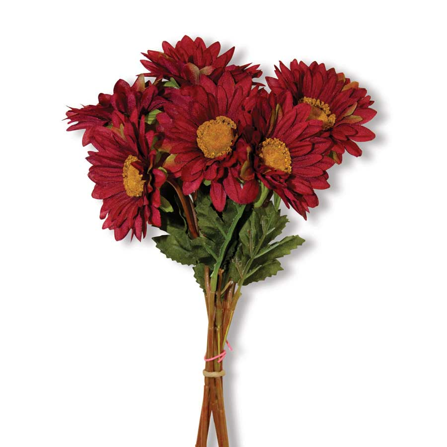 Bundle of 6 Burgundy Sunflowers