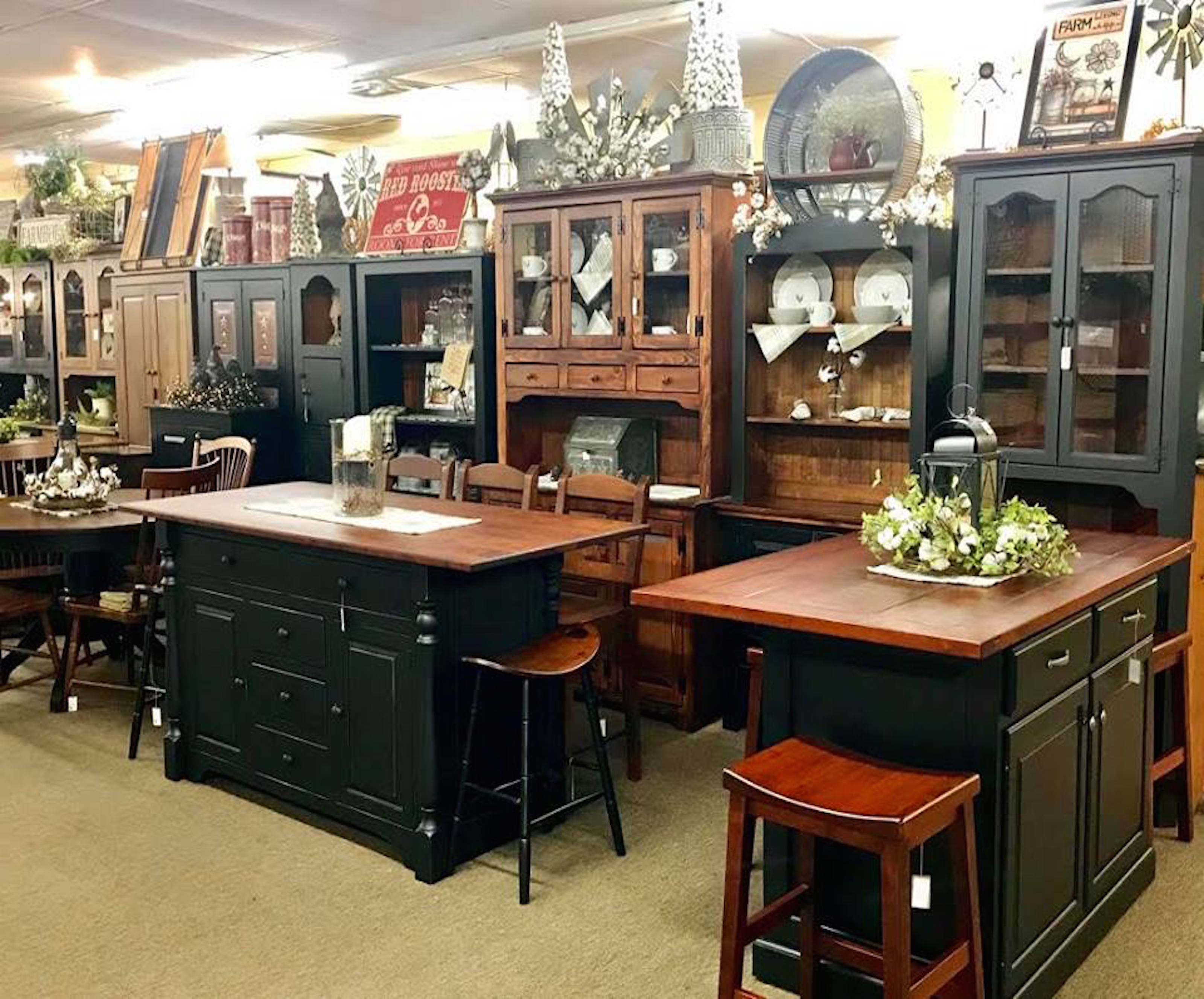 Amish Made Kitchen Islands and Vintage Farmhouse Decor – KC ...