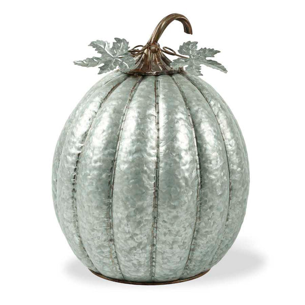18.5 Inch Metal Pumpkin w/ Leaves