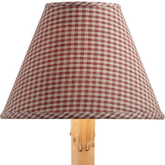"10"" York Mini Check Shade - Wine"