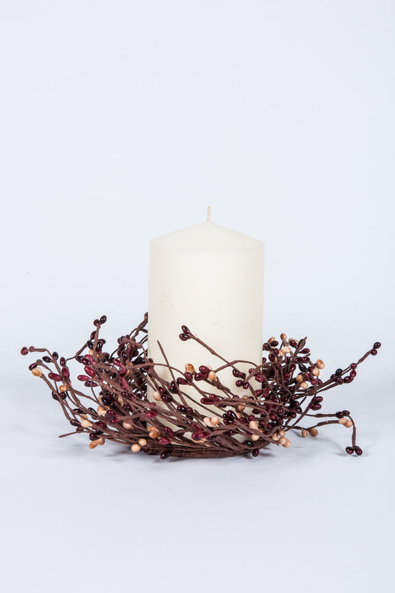 "3.5"" Rice Berry Candle Ring Mulberry"