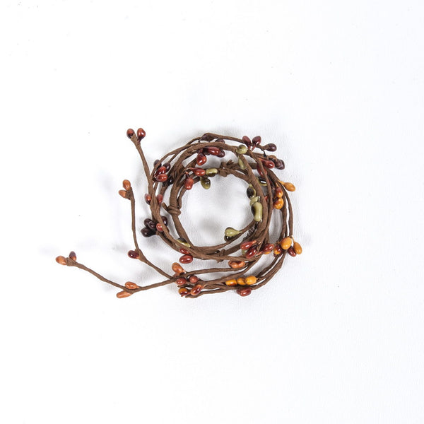 1.5 Rice Berry Candle Ring Burnt Orange, Mustard Mix