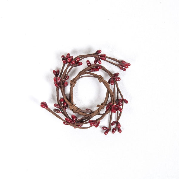 "1.5"" Rice Berry Candle Ring Red"