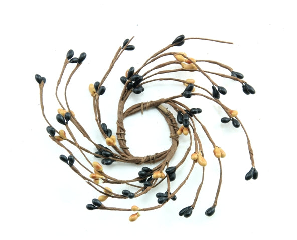 "1.5"" Candle Ring Black, Tan"