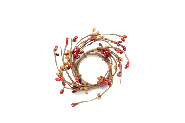 "1.5"" Candle Ring Red, Tan"