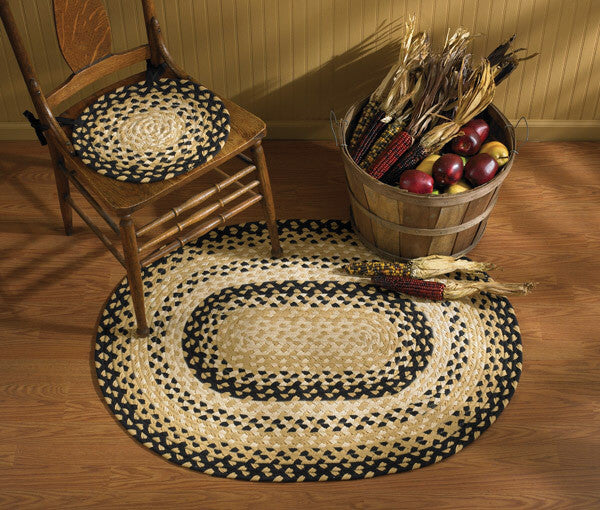 "Cornbread 32"" x 42"" Oval Braided Rug"