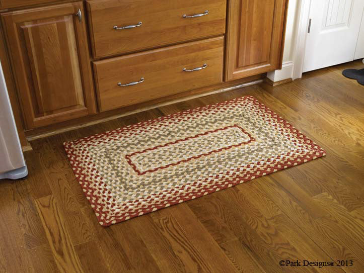 "Mill Village 27"" x 45"" Rectangle Braided Rug"