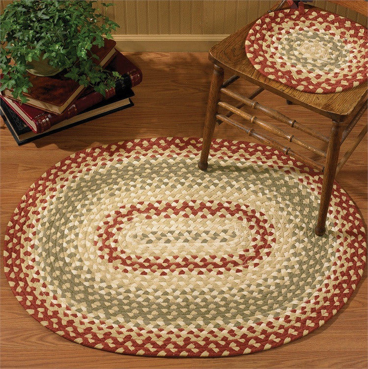 "Mill Village 32"" x 42"" Oval Braided Rug"