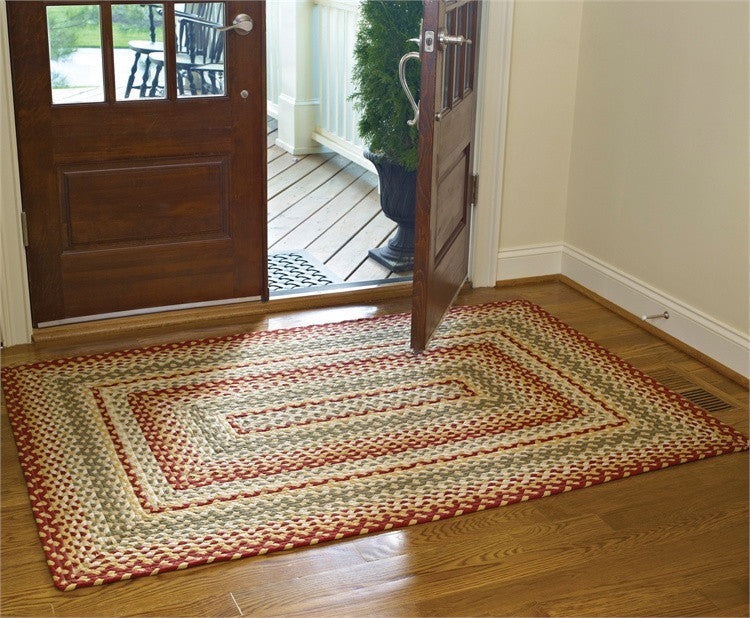 "Mill Village 48"" x 72"" Rectangle Braided Rug"