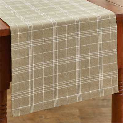 Fieldstone Plaid Table Runner - Cream