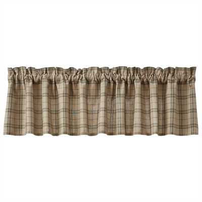 Fieldstone Plaid Valance - Black
