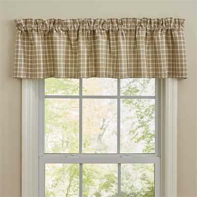 Stoneboro Check Valance - Cream