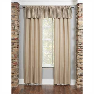 "Farmington Lined Panel Pair - 84""L - Oatmeal"