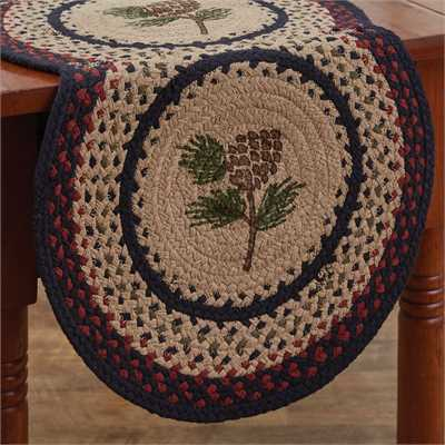 Pinecone Braided Table Runner