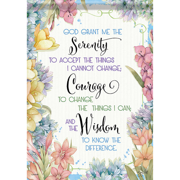 """Serenity Courage & Wisdom"" Garden Dura Soft™ Flag"