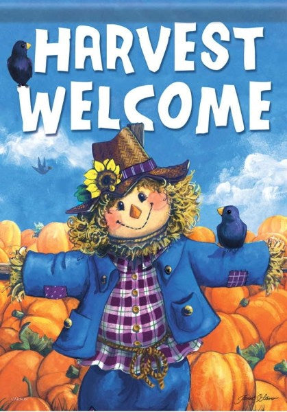 Friendly Scarecrow Garden Flag