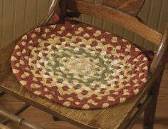 "Mill Village 15"" Braided Chair Pad"
