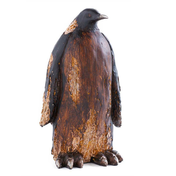 11.5 Inch Brown Resin Penguin