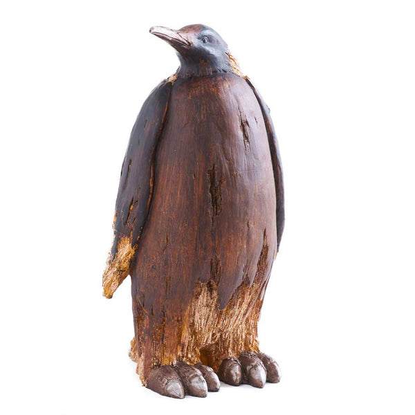 18 Inch Brown Resin Penguin with Head Right