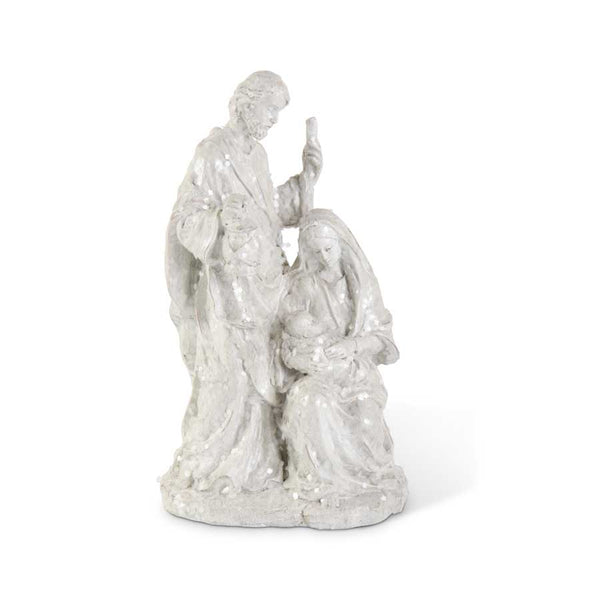 11.5 Inch White Glitter Nativity