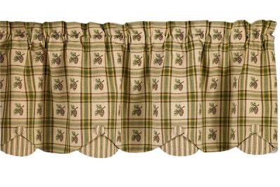 Pine Lodge Lined Scallop Valance