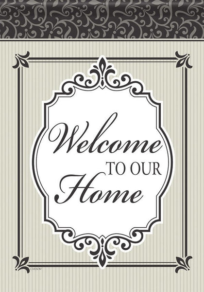Welcome Monogram Garden Flag