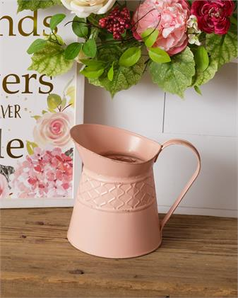 Pitcher - Embossed, Pink
