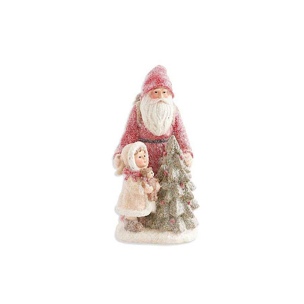11.5 Inch Sugared Santa with Child