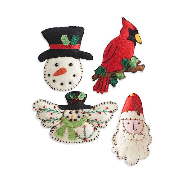 Assorted Felt Christmas Ornaments