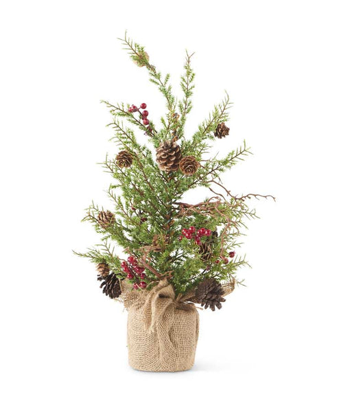 "20"" Pine Tree with Pinecones & Berries"