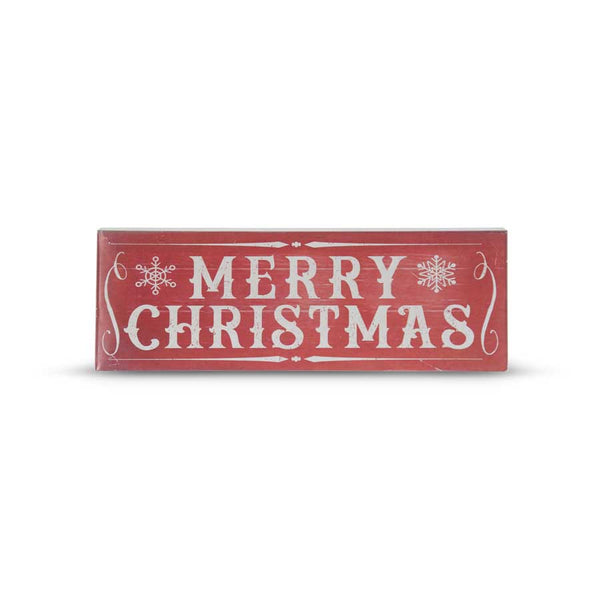 "23.75"" Red Metal MERRY CHRISTMAS Sign"
