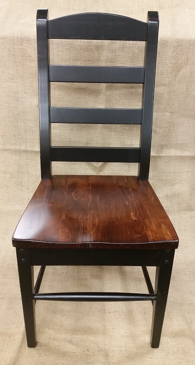 Black Ladder Back Chair With A Michaelu0027s Cherry Seat