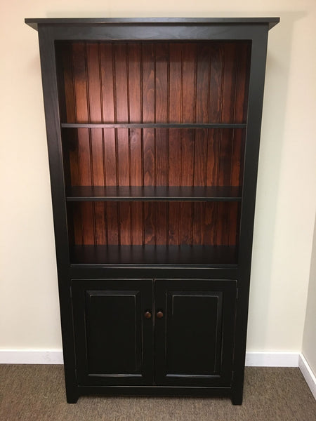 Black With Michael S Cherry Bookcase With Doors Kc