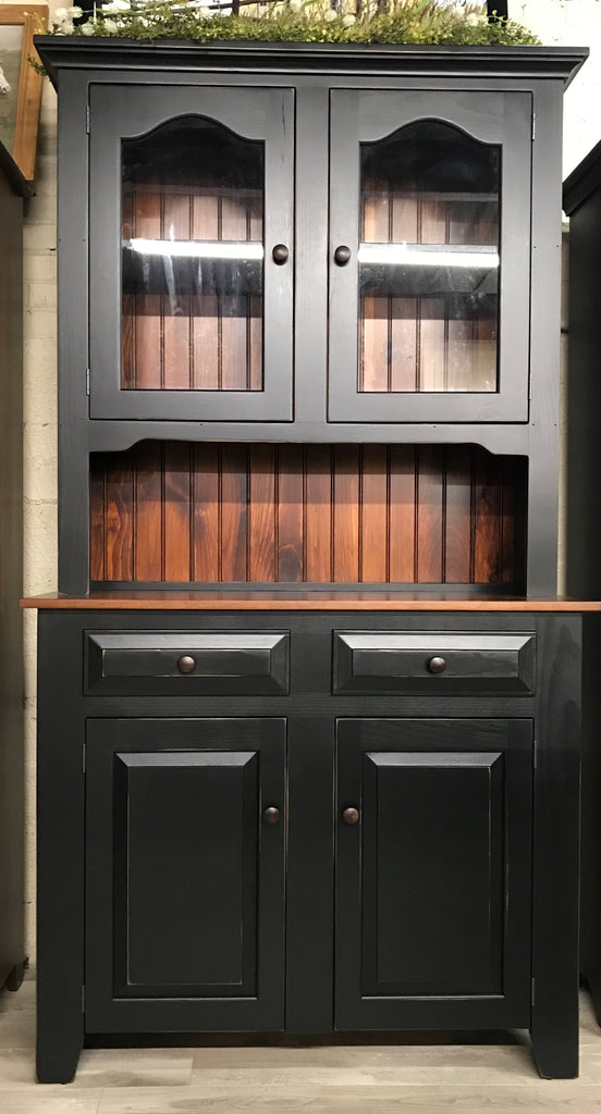 Hutch-Classic with Glass Doors