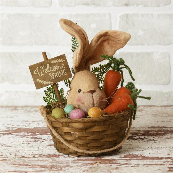 Bunny - Basket Welcome Spring